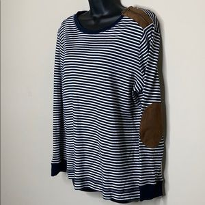 Lauren Ralph Lauren 1X Navy White Stripe Blouse